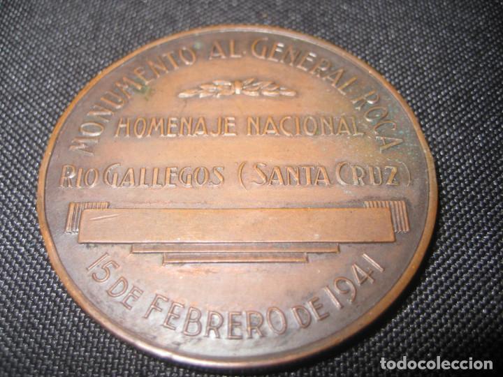 Medallas históricas: medalla Argentina ? monumento al general Roca 1941 40mm 27 gr - Foto 2 - 143271390