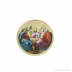 Medallas históricas: MONEDA CONMEMORATIVA - ULTIMA CENA - ARTE RELIGIOSO - ELIZABETH - ((SIN CAPSULA)). Lote 144610046