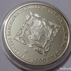 Medallas históricas: ESPAÑA -MONEDA- 2000 PESETAS 1999 PLATA ( 27,00 GR. ) SC UNC ( K045 ). Lote 144640502
