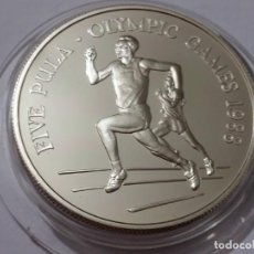 Medallas históricas: BOTSWANA -MONEDA- 5 PULA 1988 PLATA ( 28,50 GR. ) SC UNC ( K049 ). Lote 144648482