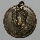 Medallas históricas: MEDAL KING GEORGE V & QUEEN MARY ANTIQUE 1911 CORONATION MEDAL, MIDE 3,8 CMS.. Lote 144840446