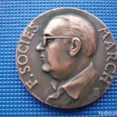Medallas históricas: MEDALLA CONMEMORATIVA DE FRANCESC SOCIES I MARCH 1967. Lote 144909210