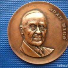 Medallas históricas: MEDALLA CONMEMORATIVA DE JOAN MIRÔ BARCELONA 1968. Lote 145021278