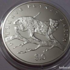 Medallas históricas: LIBERIA -MONEDA- 10 DOLARES 1995 PLATA ( 31,40 GR. ) SC UNC ( K062 ). Lote 145102054