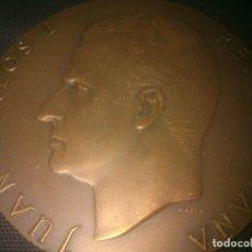 Medallas históricas: GRAN MEDALLA BRONCE JUAN CARLOS REY DE ESPAÑA. Lote 145118726
