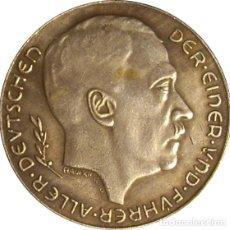 Medallas históricas: ALEMANIA. HITLER. MEDALLA DE LA ANEXIÓN DE LOS SUDETES Y AUSTRIA. 1.938. PLATA. Lote 145162950