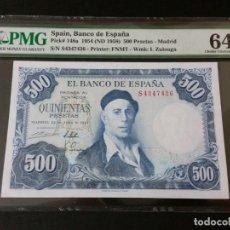 Historical Medals - ESPAÑA -BILLETE- 500 PESETAS 1954 CERTIFICADO ( PMG 64 EPQ ) SC UNC ( K094 ) - 145195046