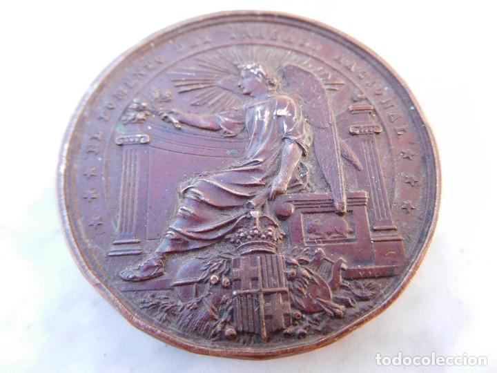 MEDALLA FOMENTO DEL TRABAJO NACIONAL ATAQUINES INCENDIADA AÑO 1900 VALLADOLID (Numismática - Medallería - Histórica)