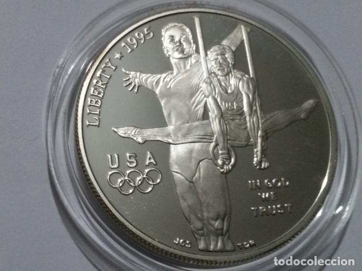 ESTADOS UNIDOS -MONEDA- DOLAR 1995 PLATA (27,00 GR. ) ) SC UNC ( K116 ) (Numismática - Medallería - Histórica)