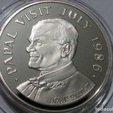 Medallas históricas: SANTA LUCIA -MONEDA- 5 DOLARES 1986 PLATA (28,15 GR. ) ) SC UNC ( K117 ). Lote 145441238