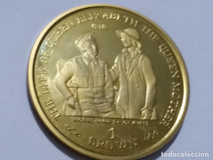 GIBRALTAR -MONEDA- 1 CROWN 1999 PLATA DORADA- PRUEBA (28,50 GR. ) ) SC UNC ( K119 ) (Numismática - Medallería - Histórica)