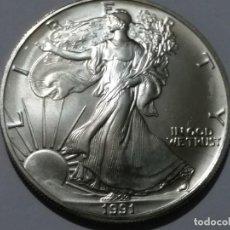 Medallas históricas: ESTADOS UNIDOS -MONEDA- DOLAR 1991 PLATA (31,25 GR. ) ) SC UNC ( K121 ). Lote 145443194