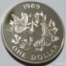 Medallas históricas: ISLAS BERMUDAS-MONEDA- DOLAR 1989 PLATA ( 28,40 GR. ) SC UNC ( M028 ). Lote 146420370