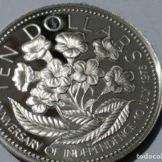 Medallas históricas: BAHAMAS-MONEDA- 10 DOLARES 1975 PLATA ( 50,50 GR. ) SC UNC ( M 003 ). Lote 146428674