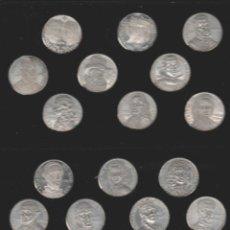 Medallas históricas: COLECCION DE 19 MEDALLAS DE LOS REYES ESPAÑOLES-PLATA 925. Lote 146587798
