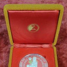 Medallas históricas: MEDALLA DE PLATA. CORONACION CANONICA. VIRGEN DE MONTSERRAT. 1881-1991. . Lote 146870930