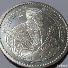 Historical Medals - ESPAÑA -MONEDA- 2000 PESETAS 2000 CAROLVS IMPERATOR PLATA ( 33,62 GR. ) SC UNC ( M052 ) - 147218242