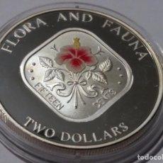 Medallas históricas: BAHAMAS -MONEDA- 2 DOLARES 1995 PLATA ( 31,10 GR. ) SC UNC ( M055 ). Lote 147221314