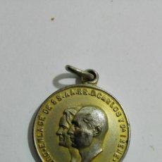 Medallas históricas: MEDALLA ENLACE DE D. JUAN CARLOS Y DOÑA IRENE, DUQUES DE MADRID, ROMA 1964 MEDIDAS 3 CM. Lote 147553922