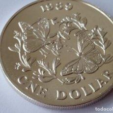 Medallas históricas: BERMUDAS -MONEDA- 1 DOLAR 1989 PLATA ( 28,40 GR. ) SC UNC ( M061 ). Lote 147579634
