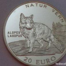 Medallas históricas: NORUEGA -MONEDA- 20 EUROS 1997 PLATA ( 25,00 GR. ) SC UNC ( M073 ). Lote 147618886