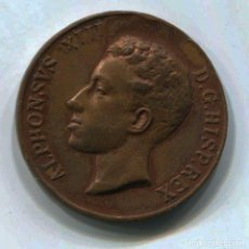 Medallas históricas: MEDALLA ALFONSO XIII. CONMEMORACIÓN DE LA MAYORIA DE EDAD. 17 MAYO 1902. 30 MM. DIÁMETRO. Lote 147634402