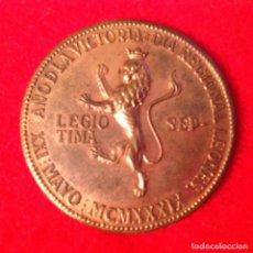 Medallas históricas: MEDALLA DE BRONCE DEL DÍA REGIONAL LEONÉS, AÑO DE LA VICTORIA, XXI MAYO MCMXXXIX, 38 MM. DE DIAMETRO. Lote 148203634