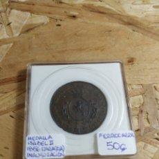 Medallas históricas: MEDALLA ISABEL II ZARAGOZA. Lote 148402176