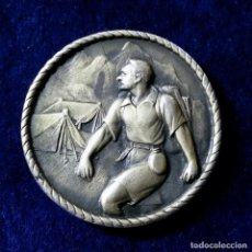 Medallas históricas: MEDALLA IX EXPOSICION DEL SELLO MISIONAL P.P JESUITAS - BARCELONA 1966 CONTRAMARCA PUNZON. Lote 148676322