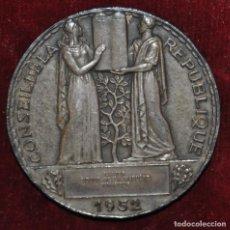 Medallas históricas: MEDALLA DE PLATA-CONSEIL DE LA REPUBLIQUE-1952-LOUIS MULLER.. Lote 148854866