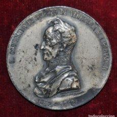 Medallas históricas: MEDALLA DE PLATA-CONMEMORANDO EL CENTENARIO DEL TRASLADO DE LOS RESTOS DE SIMÓN BOLIVAR.1842-1942.. Lote 148857414