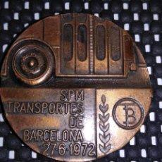 Medallas históricas: MEDALLA DEL CENTENARIO DEL TRANVIA .- TRANSPORTES DE BARCELONA 1972 .- D- 5 CM. .- PESO 78 GRS.. Lote 149252773