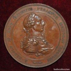 Medallas históricas: MEDALLA CONMEMORATIVA DEL CENTENARIO DE LA ACADEMIA DE MINERIA-1877-LUIS PLAÑIOL.. Lote 149653758