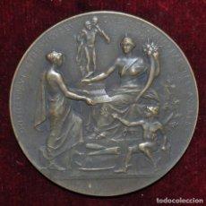 Medallas históricas: MEDALLA DE BRONCE- L'UNION DU COMMERCE-SOCIETÉ PHILANTHROPIQUE- FONDÉE EN 1847 A PARIS.. Lote 149662694