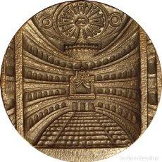 Medallas históricas: ESPAÑA. FRANCISCO FRANCO. MEDALLA F.N.M.T. INAUGURACIÓN TEATRO REAL MADRID. 1.966. Lote 150365642