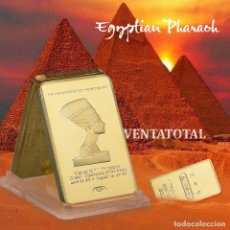 Medallas históricas: AFRICA LINGOTE ORO 24 KILATES 41 GRAMOS ( HOMENAJE A CLEOPATRA REINA DEL ANTIGUO EGIPTO ) Nº2. Lote 181500013