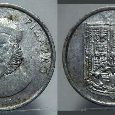 Medallas históricas: MEDALLA DE FRANCISCO PIZARRO ALUMINIO. Lote 151530358