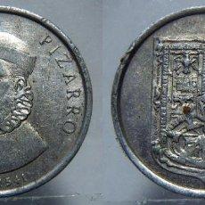 Medallas históricas: MEDALLA DE FRANCISCO PIZARRO ALUMINIO. Lote 151530474