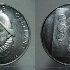 Medallas históricas: MEDALLA DE FRANCISCO DE ORELLANA ALUMINIO. Lote 151533578