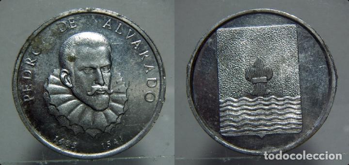 MEDALLA DE PEDRO DE ALVARADO ALUMINIO (Numismática - Medallería - Histórica)