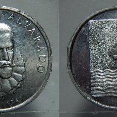 Medallas históricas: MEDALLA DE PEDRO DE ALVARADO ALUMINIO. Lote 151535110