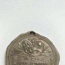 Medallas históricas: MEDALLA MODERNISTA.REGALO DE LA REINA DE LOS JUEGOS FLORALES DE CADIZ,CLARA FIGUEROA ALCORTA.1912 . Lote 151595166
