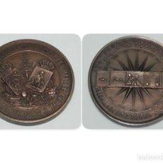 Medallas históricas: MEDALLA DE BRONCE CON MOTIVO DE LA EXPOSICIÓN MARÍTIMA CELEBRADA EN CÁDIZ EN 1887. FIRMADA POR A. GA. Lote 151711506