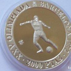 Medallas históricas: ESPAÑA -MONEDA- 2000 PESETAS 1990 PLATA SC UNC ( G066 ). Lote 151989390