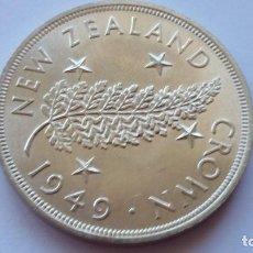 Medallas históricas: NUEVA ZELANDA -MONEDA- 1 CROWN 1949 PLATA ( 28,35 GR. ) SC UNC ( P012 ). Lote 151995182