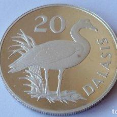 Medallas históricas: GAMBIA -MONEDA- 20 DALASIS 1977 PLATA SC UNC ( P017 ). Lote 152002226