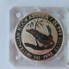 Medaglie storiche: AUSTRALIA- MONEDA - UN DOLAR UNA ONZA 1992 PLATA SC UNC ( P037 ). Lote 152191270