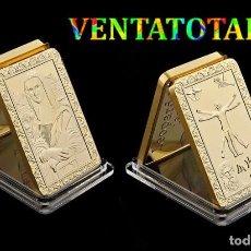 Medallas históricas: EDICION LIMITADA LINGOTE ORO DE 24 KILATES 36 GR ( LEONARDO DA VINCI - LA MONA LISA ) Nº1. Lote 165909232