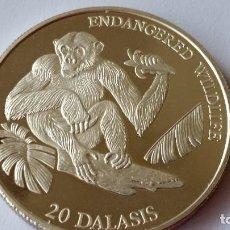 Medallas históricas: GAMBIA - MONEDA - 20 DALASIS 1994 PLATA SC UNC ( P061 ). Lote 152542906