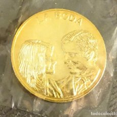 Medallas históricas: MEDALLA ARRAS REALES. LA BODA. DIÁMETRO 27 MM. Lote 152765330